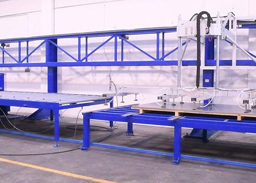 Meccanica Ronzani - carico scarico lamiere - Levico Terme (TN)